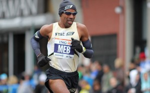 Meb is an  elite long distance runner.  He is a 2004 Olympic Silver Medalist in the Marathon and finished 4th place the 2012 Summer Olympics
